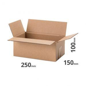 Faltkarton 250xc150x100mm oder 25x15x10cm Klappkarton Grau Welle B online bestellen für den Versand