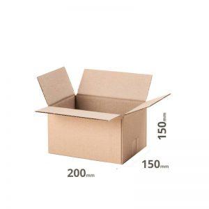 Versandkarton 250x150x150 oder 25x15x15cm Welle B grau online bestellen 10 Stück