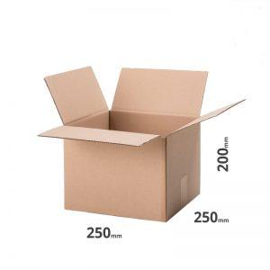 Karton 250x250x200mm 25x25x20cm Faltkarton B Welle Versandschachtel online kaufen