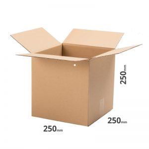 Faltkarton Versandkarton 250x250x250mm 25x25x25cm Welle B online kaufen Österreich