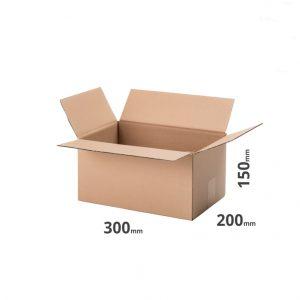 Karton grau 300x200x150mm oder 30x20x15cm Welle EB 610g/m2 5-lagig zweiwellig online kaufen günstig