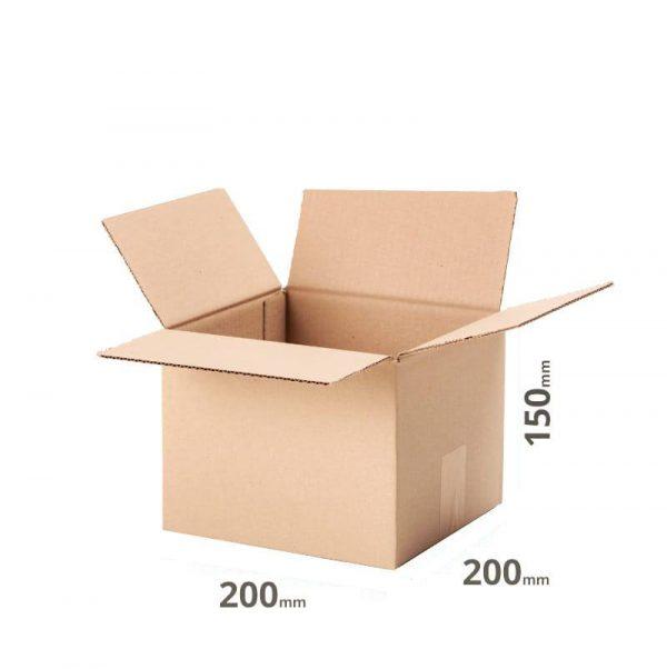 Faltkarton 200x200x150mm oder 20x20x15cm Welle B einwellig Farbe grau online günstig bestellen 20 Stück