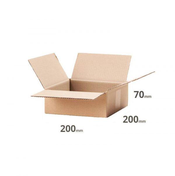 Faltkarton für den E-Commerce Versand 200x200x70mm oder 20x20x7cm grau Welle B online kaufen