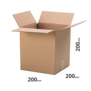 Faltkarton für den Versand 200x200x200mm oder 20x20x20cm grau Welle B online bestellen 20 Stk.