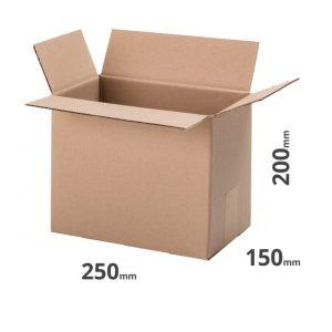 Versandkarton 250x150x200mm grau online bestellen