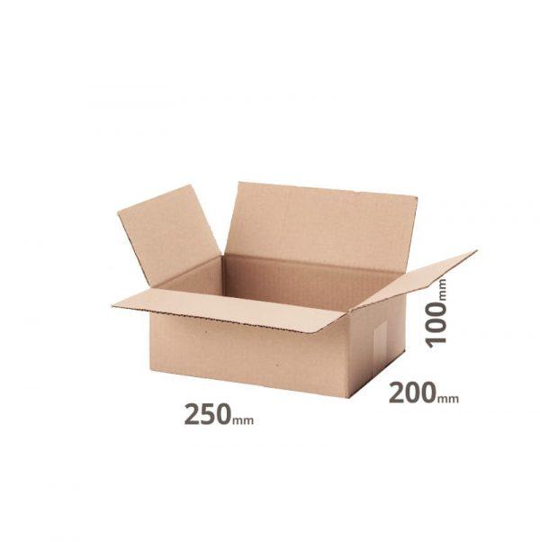 Faltkarton 250x200x100 oder 25x20x10cm online bestellen günstig Set von 20Stk. Welle B grau