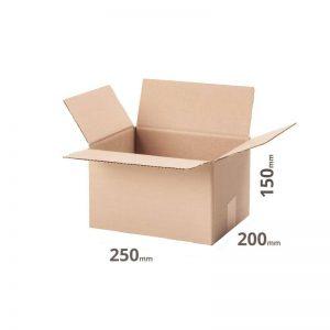Karton 250x200x150 oder 25x20x15cm online bestellen Welle B grau