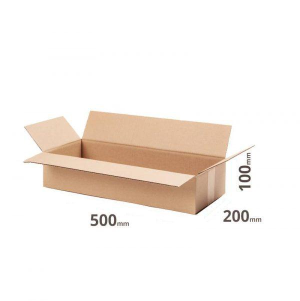 Karton 500x200x100 günstig kaufen 50x20x10cm grau Welle B