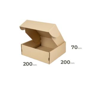graue Faltschachtel 200x200x70 oder 20x20x7cm Welle E für kleine Gegenstände online kaufen Österreich