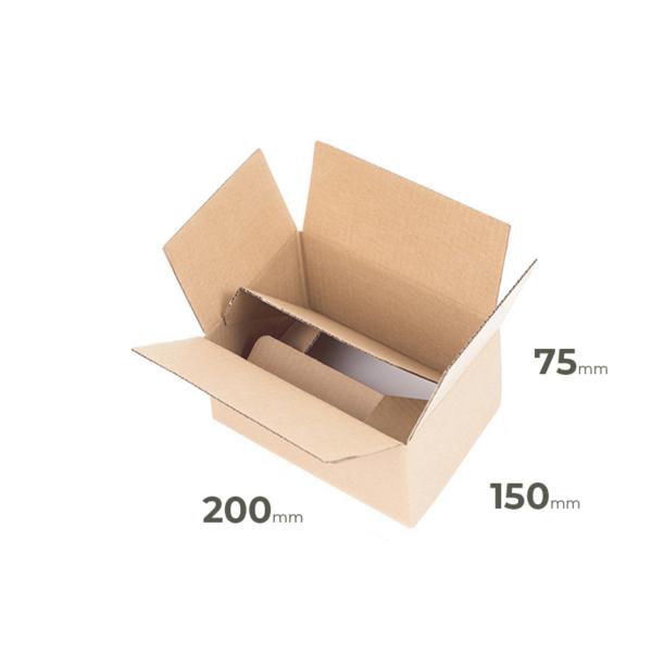 Brauner Faltkarton 200x150x75 mm günstig Online in Österreich kaufen.
