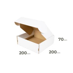 Weiße Faltschachtel 200x200x70 mm günstig Online in Österreich kaufen.