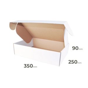 Weiße Faltschachtel 350x250x90 mm günstig Online in Österreich kaufen.