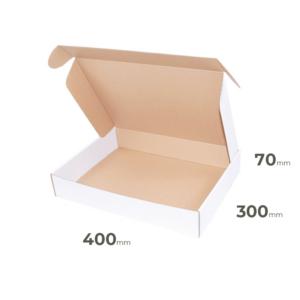 Weiße Faltschachtel 400x300x70 mm günstig Online in Österreich kaufen.