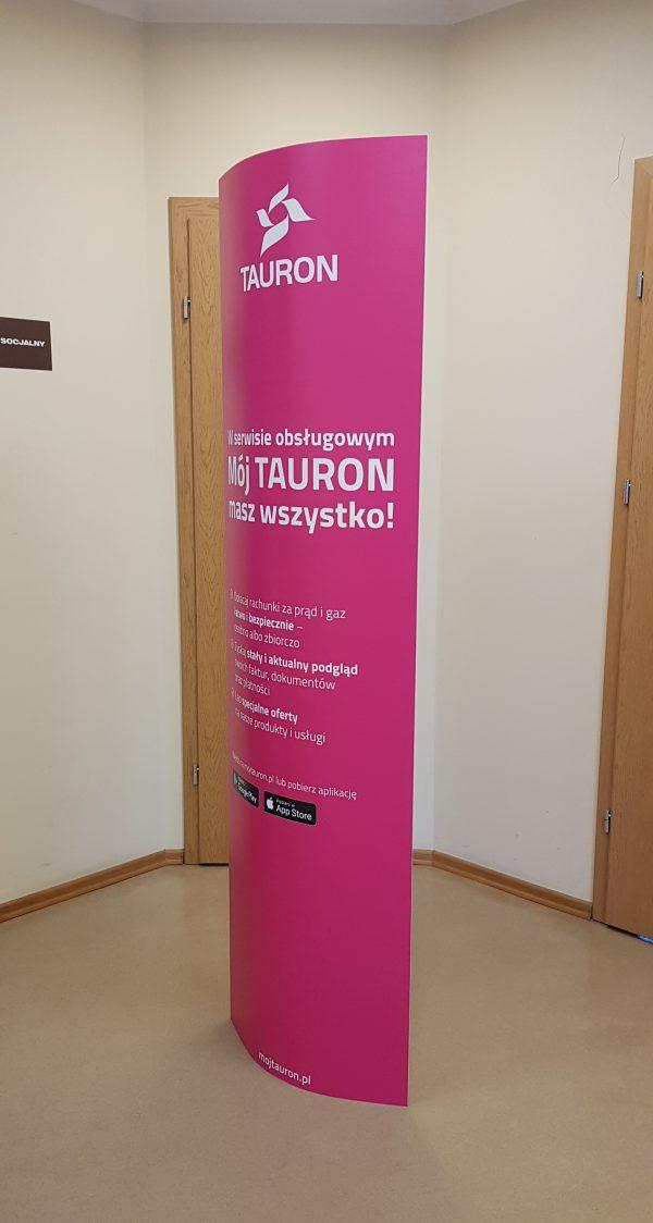 Ellipse Werbung Indoor aus Karton mit individuellem Logodruck