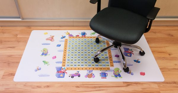 Bodenschutzmatte Kinderzimmer personalisiert