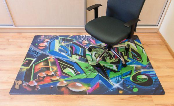 Sessel Bodenschutzmatte mit Logo bedrucken lassen