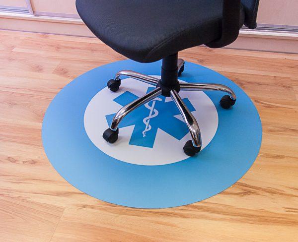 Sessel Unterlage bedruckt