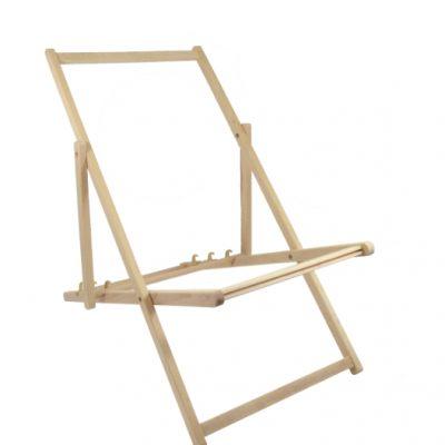 Liegestuhl Gestell aus Buchenholz ohne Armlehnen günstig kaufen