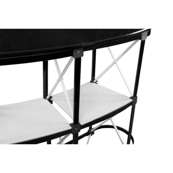 Pop-up 2x32 Promotiontheke Gestell aus Aluminium schwarzer Blatt